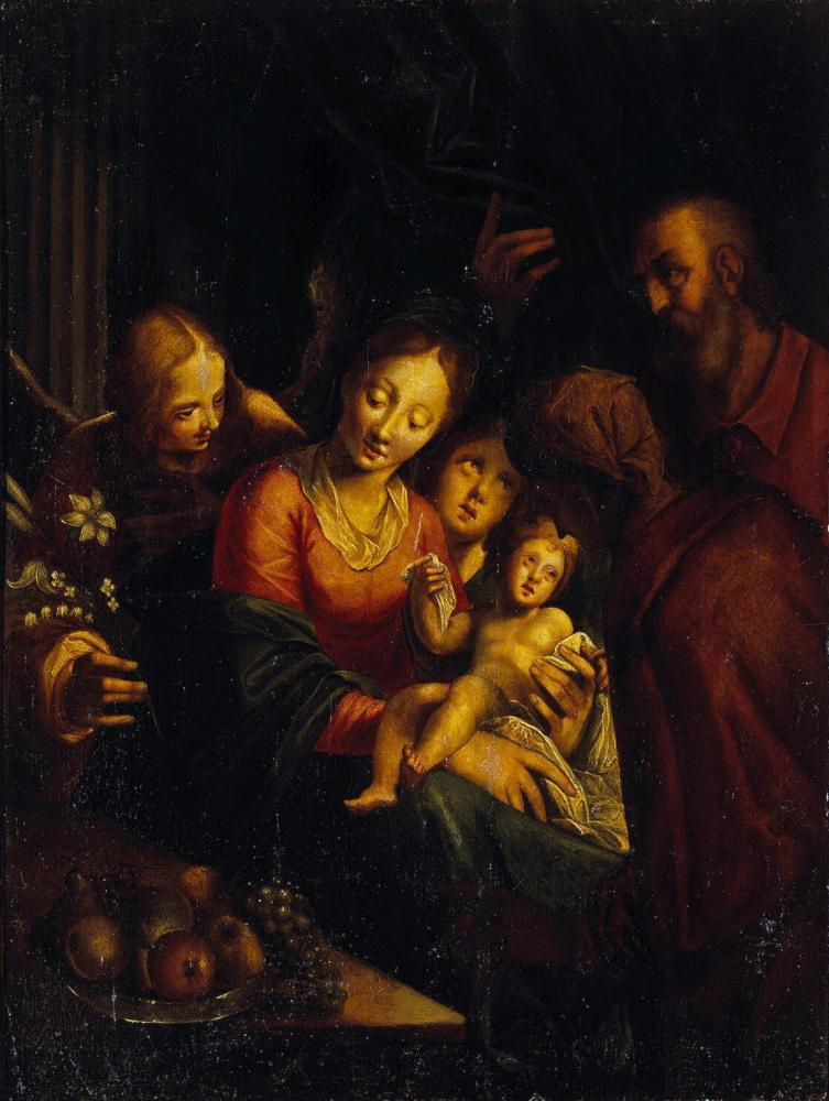 Holy Family :: AACHEN, Hans von - Bible scenes in art and painting ôîòî