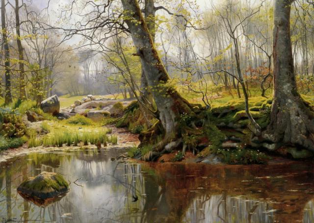A Tranquil Pond :: Peder Mork Monsted - Landscapes ôîòî