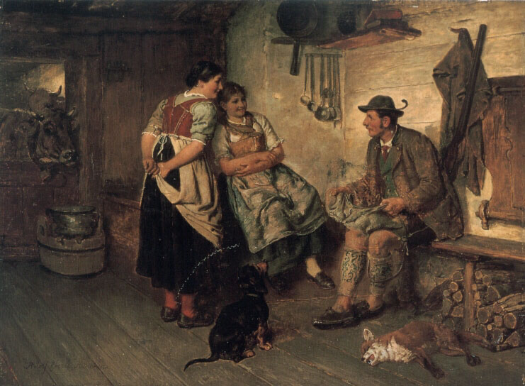 The Young Fox  :: Adolf Eberle - Romantic scenes in art and painting ôîòî