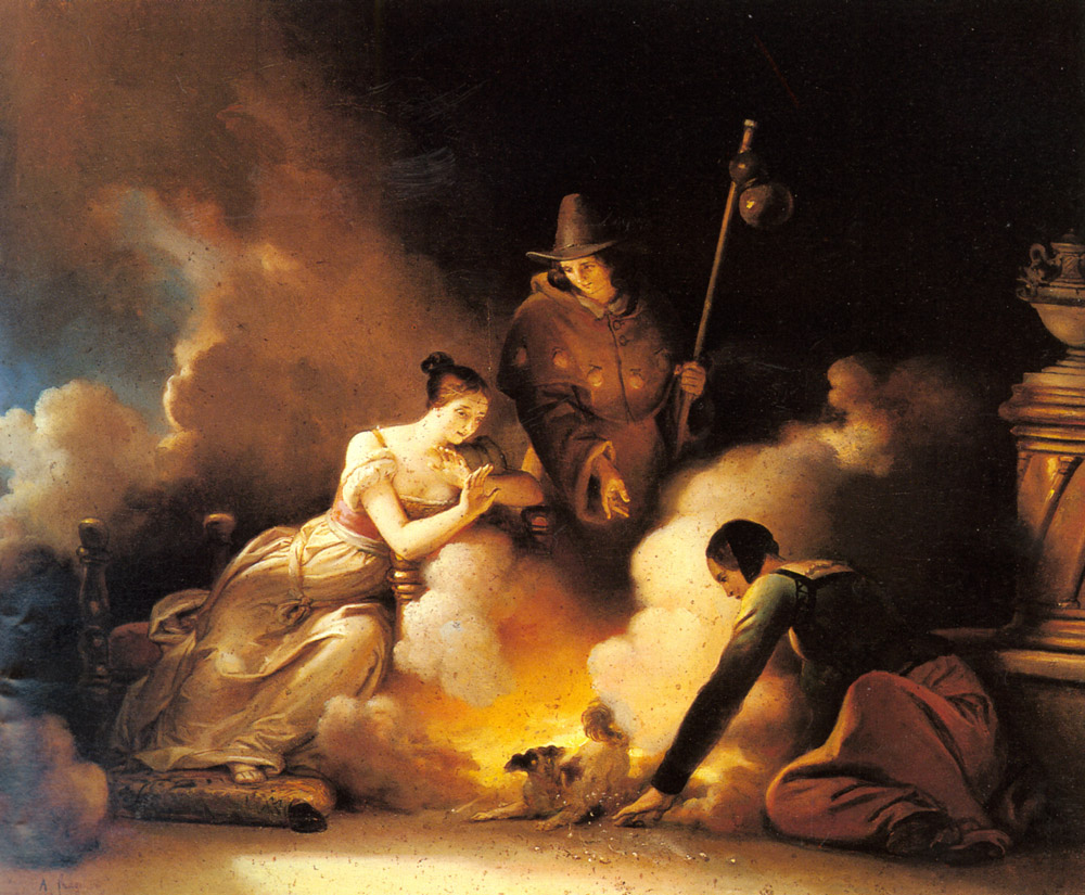 The Magician :: Alexandre Evariste Fragonard - Romantic scenes in art and painting ôîòî