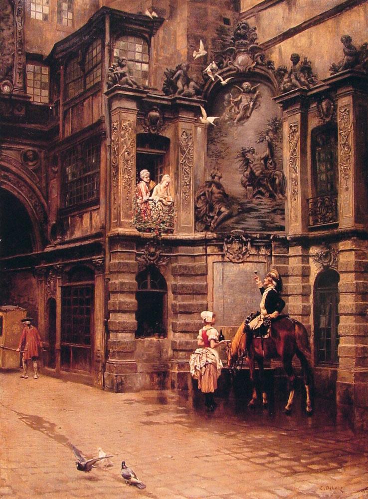A Toast to Love :: Charles Edouard Edmond Delort - Romantic scenes in art and painting ôîòî