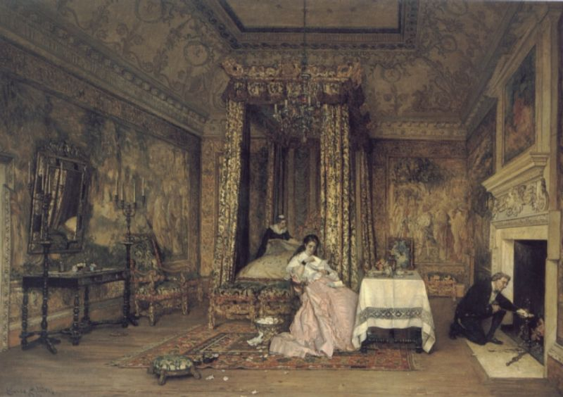 Discarded Love Letters :: Claude Andrew Calthrop - Romantic scenes in art and painting ôîòî
