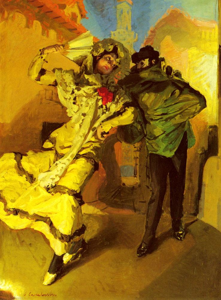 Spanish Dancers :: Claudio Castelucho - Romantic scenes in art and painting ôîòî