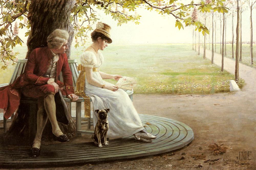 Courtship :: Felix Friedrich Von Ende - Romantic scenes in art and painting ôîòî