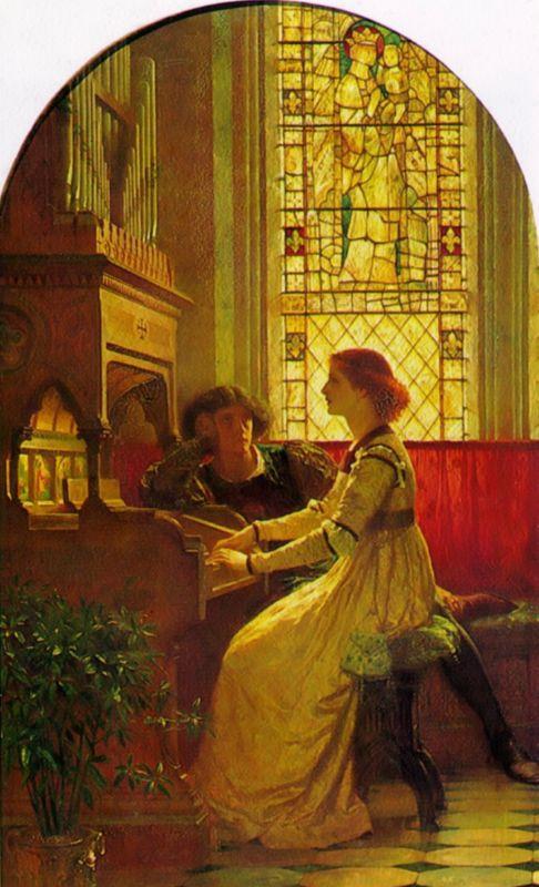 Harmony :: Frank Dicksee  - Romantic scenes in art and painting ôîòî