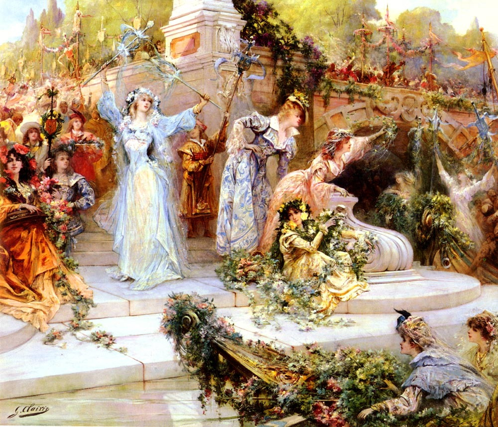 The Flower Festival :: Georges Jules Victor Clairin - Romantic scenes in art and painting ôîòî