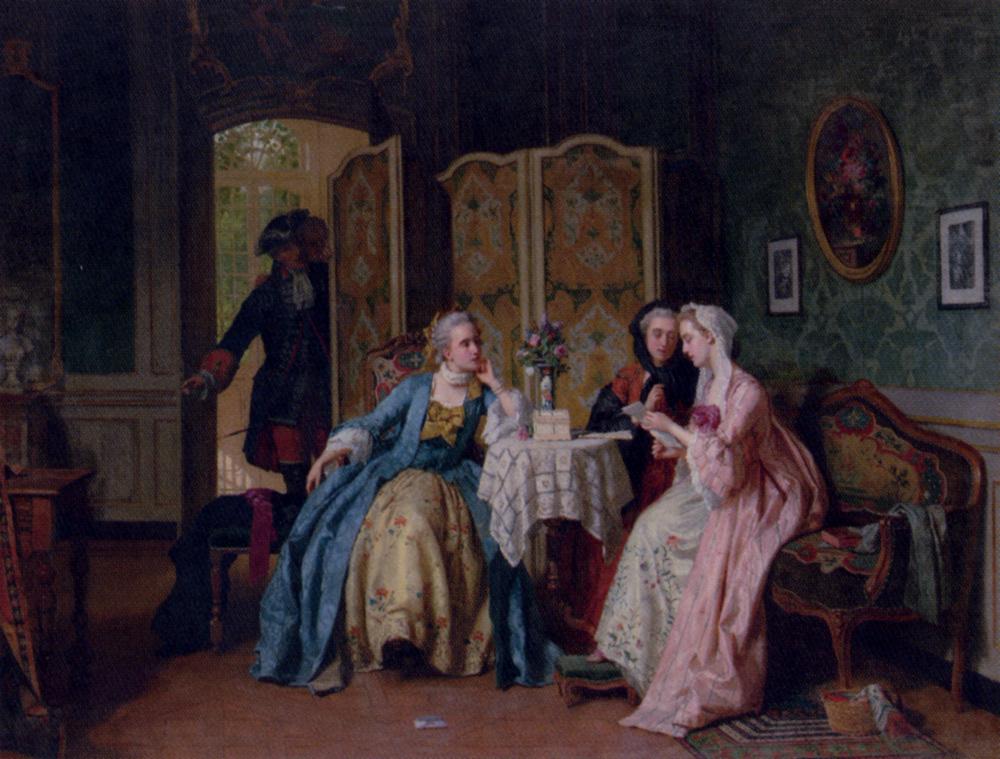 The Letter :: Jean Carolus  - Romantic scenes in art and painting ôîòî