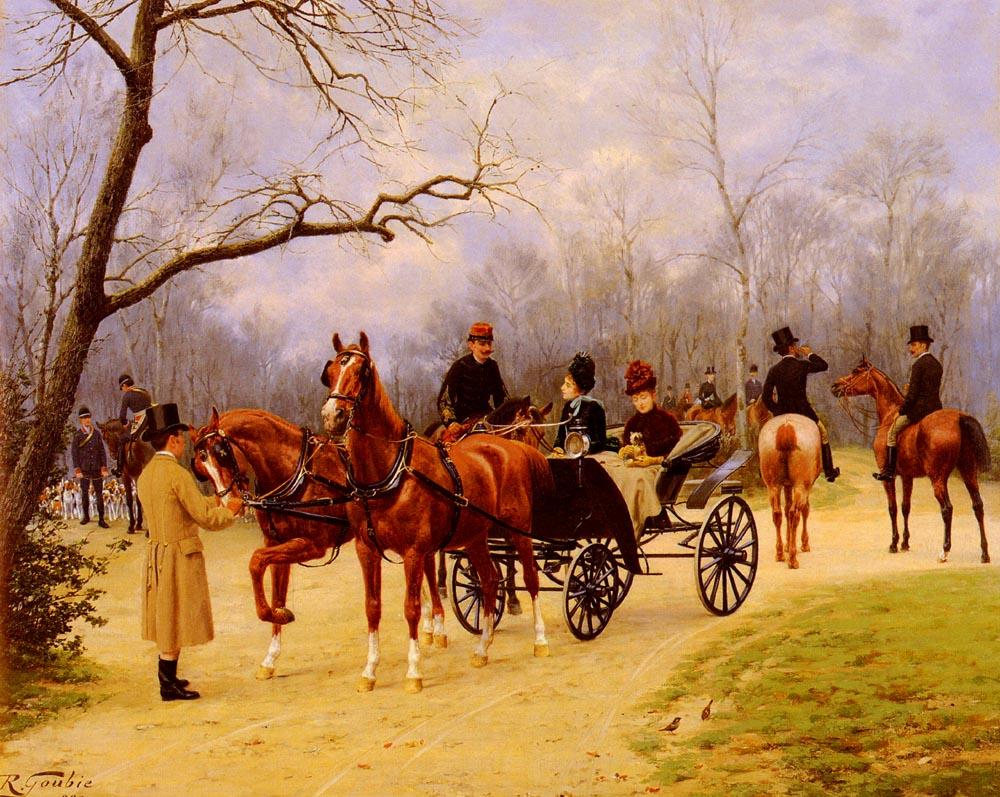 Rendez-vous at the Meet :: Jean Richard Goubie - Romantic scenes in art and painting ôîòî