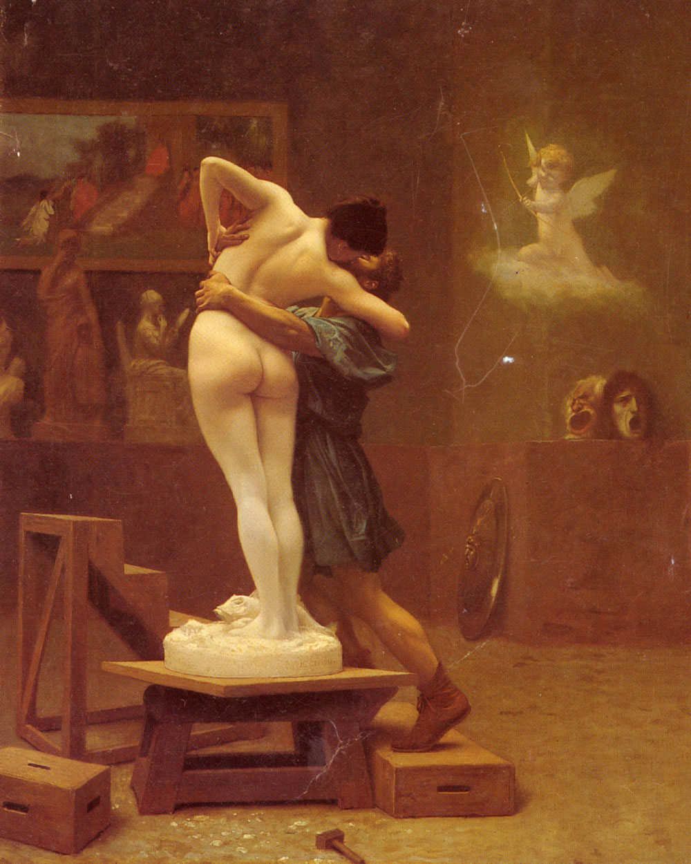 Pygmalion and Galatea :: Jean-Leon Gerome - Romantic scenes in art and painting ôîòî