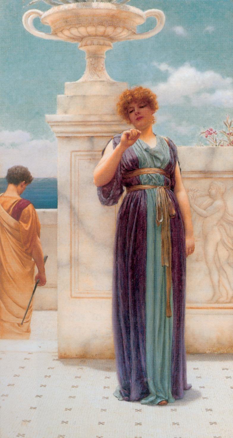 The Engagement Ring :: John William Godward  - Romantic scenes in art and painting ôîòî