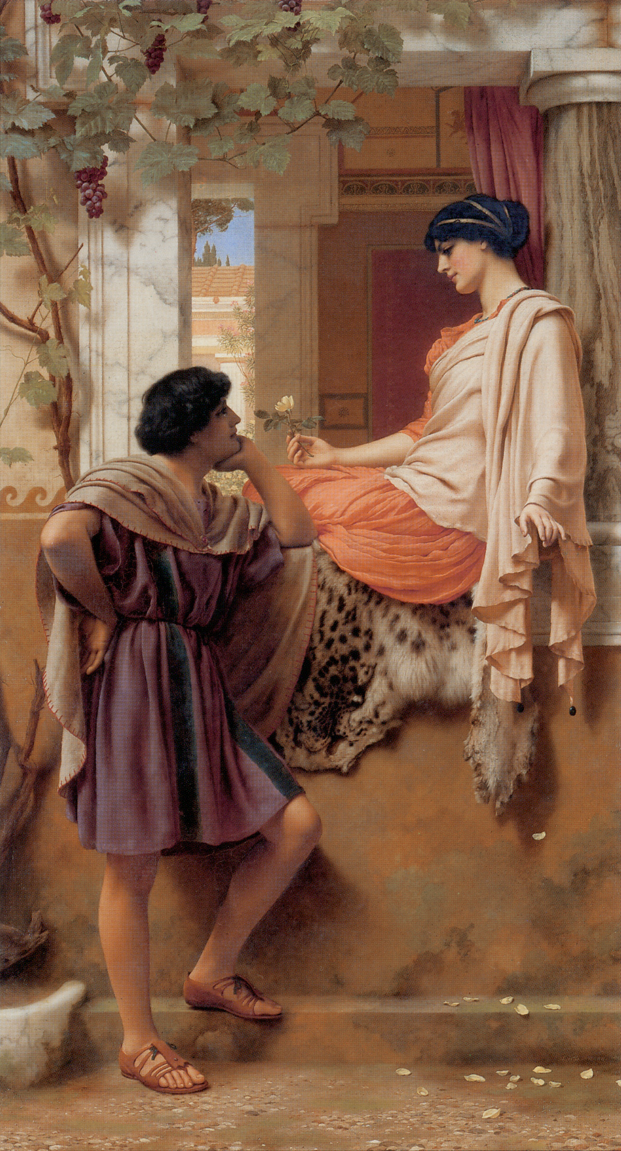 The Old, Old Story :: John William Godward - Romantic scenes in art and painting ôîòî