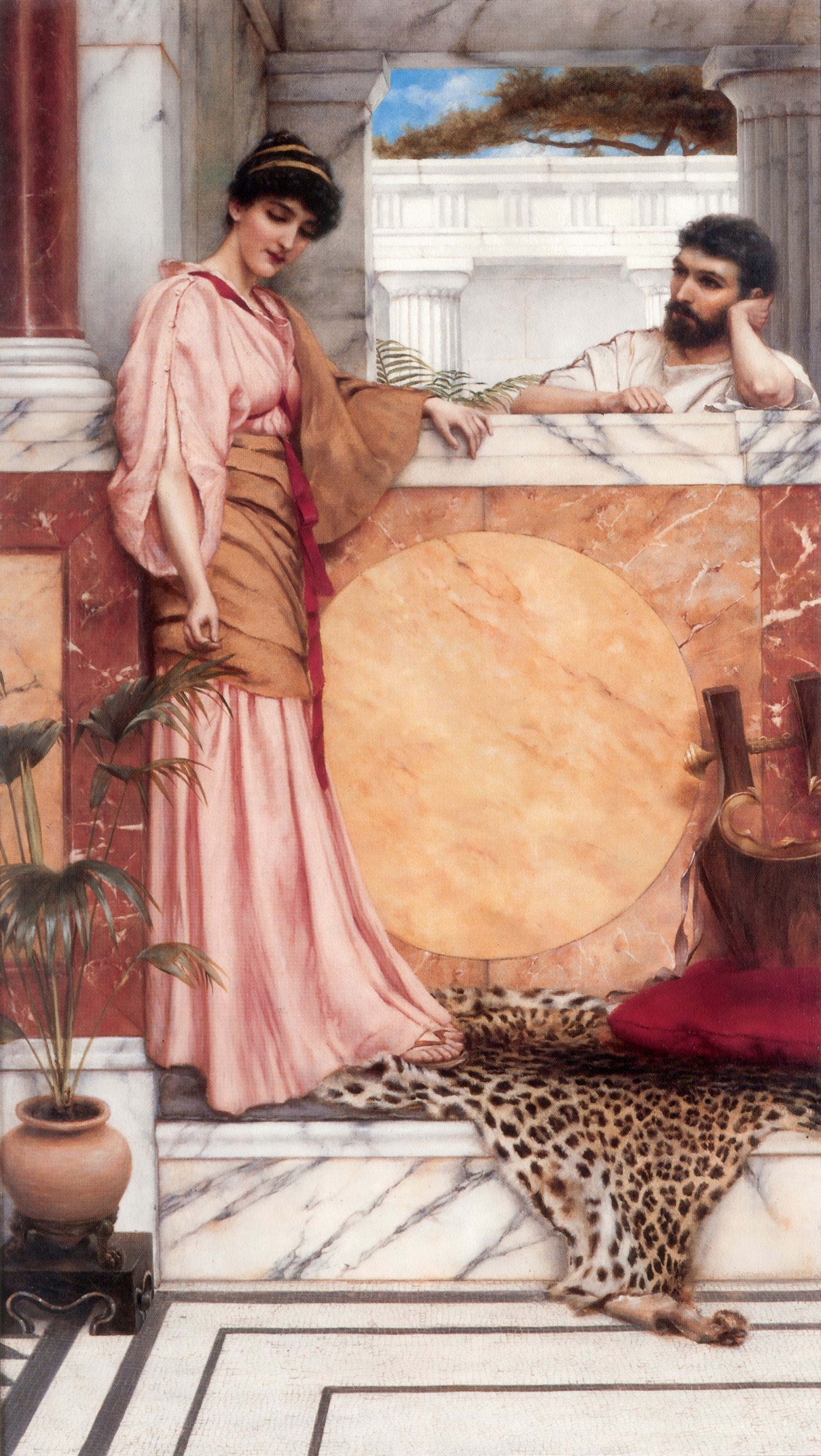 Waiting for an Answer :: John William Godward - Romantic scenes in art and painting ôîòî