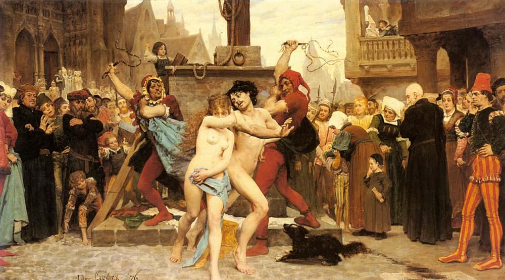 Execution of Matrimonial unfaithfulness :: Jules Arsene Garnier - Romantic scenes in art and painting ôîòî