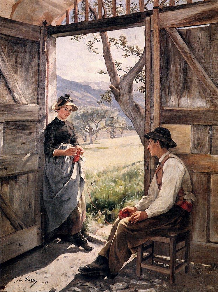 Tonoir Jeunes Paysans :: Marie Caire - Romantic scenes in art and painting ôîòî