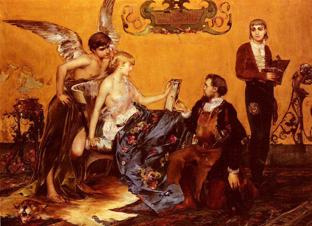 Homage to French Jewellery :: Paul Jean Gervais - Romantic scenes in art and painting ôîòî