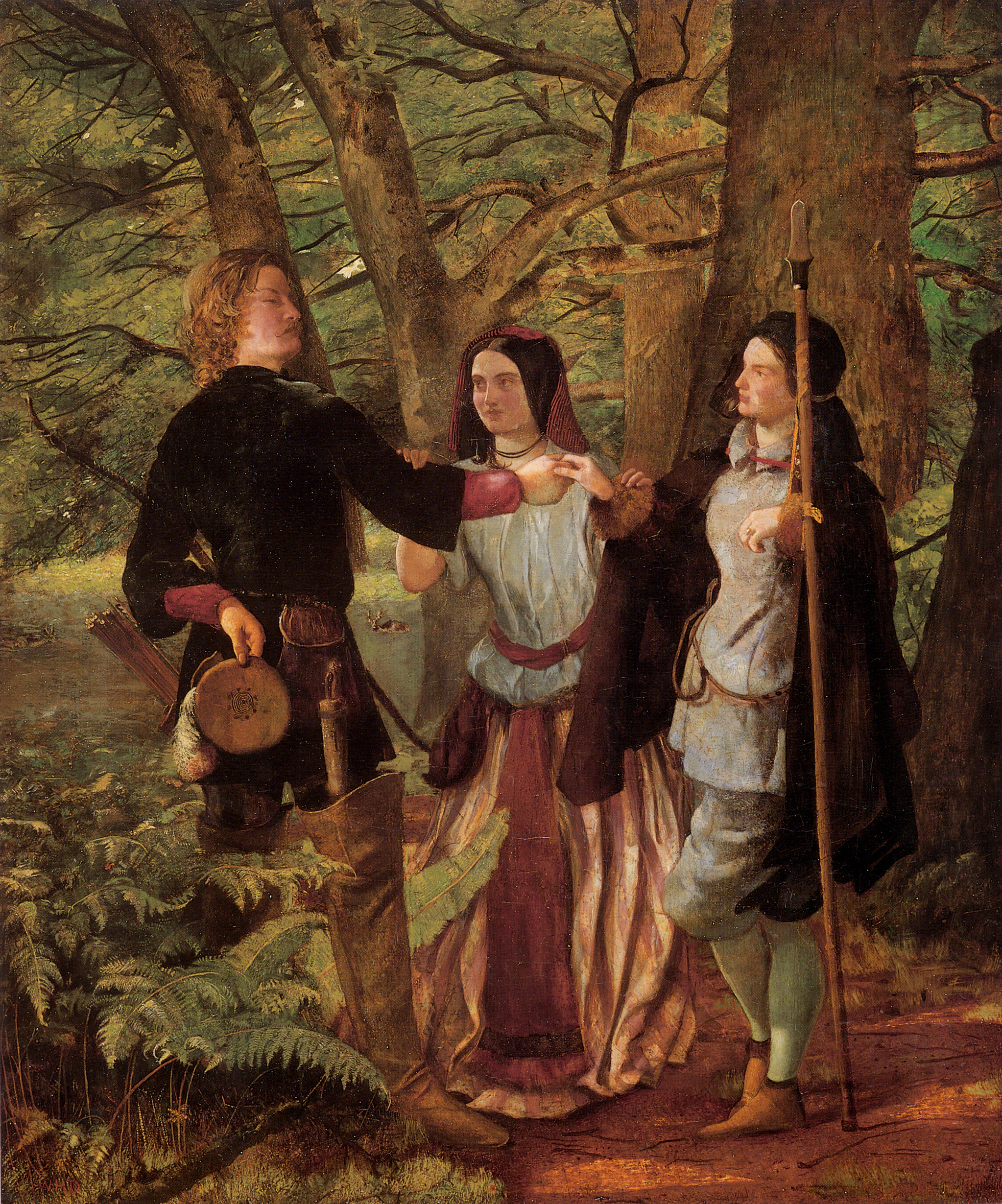 A Scene from As You Like It :: Walter Howell Deverell - Romantic scenes in art and painting ôîòî