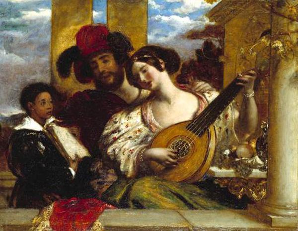 The Duet :: William Etty - Romantic scenes in art and painting ôîòî