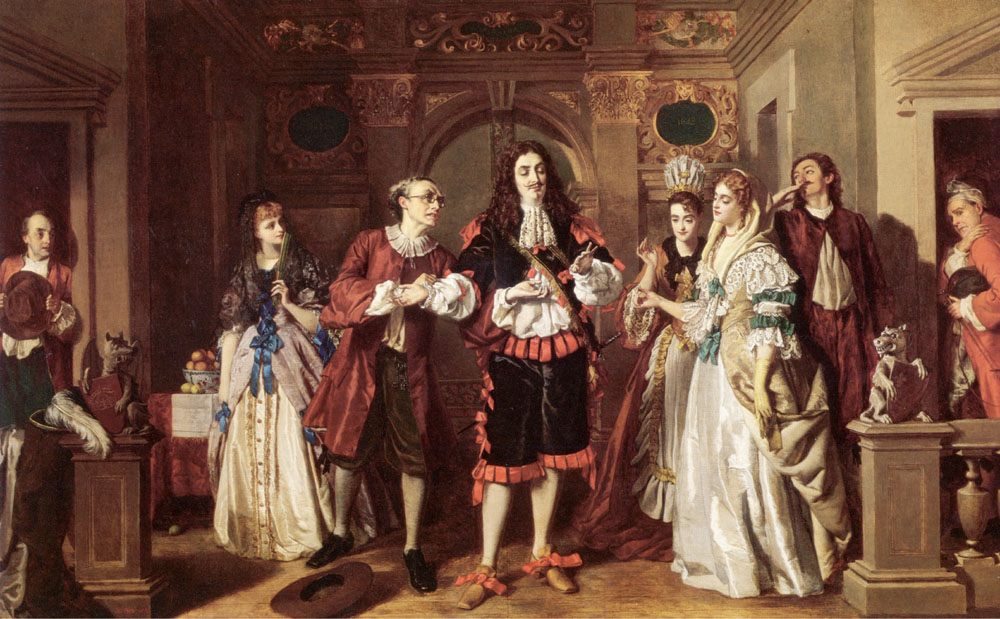 A scene from Moliere's L'Avare :: William Powell Frith - Romantic scenes in art and painting ôîòî