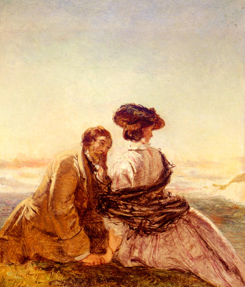 The Lovers :: William Powell Frith - Romantic scenes in art and painting ôîòî