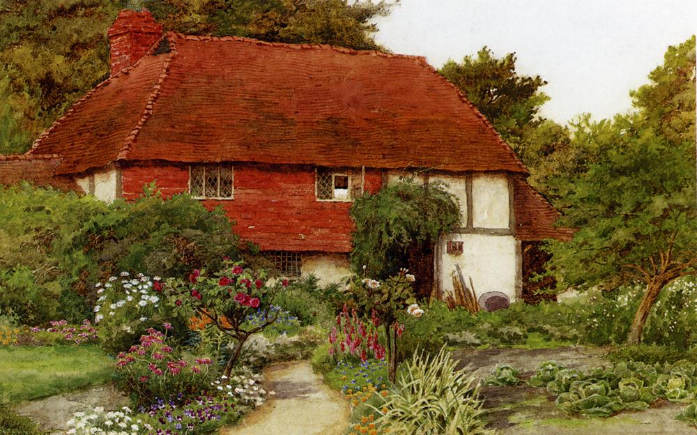 A Cottage Garden :: Curtius Duassut - Village life ôîòî