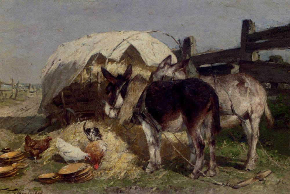 The Midday Rest :: Friedrich Eckenfelder - Village life ôîòî
