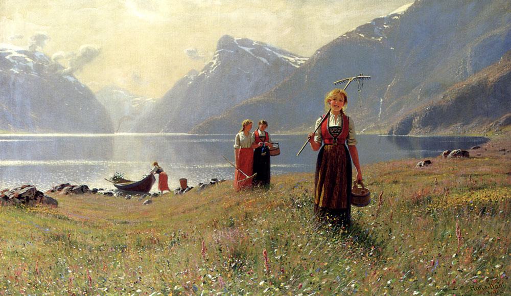 A Summers Day :: Hans Dahl - Village life ôîòî