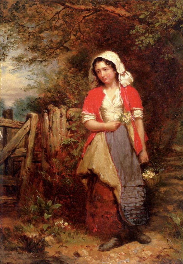 The Primrose Gatherer :: Henry Campotosto  - Village life ôîòî