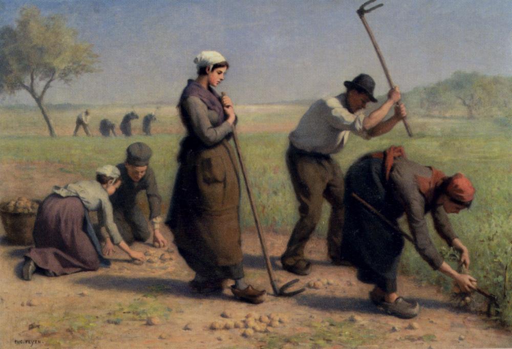 Les Moissonneurs :: Jacques-Eugene Feyen - Village life ôîòî