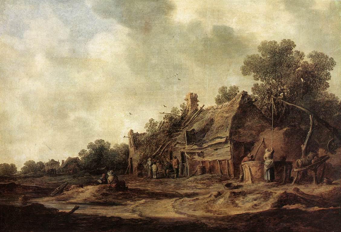 Peasant Huts with a Sweep Well :: Jan van Goyen - Village life ôîòî