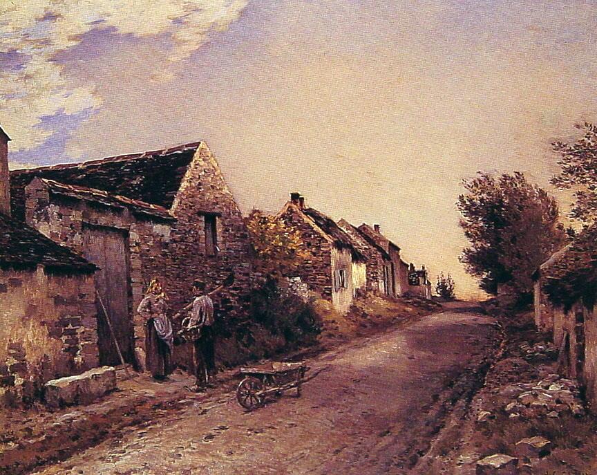 The Gossips :: Jean-Charles Cazin  - Village life ôîòî