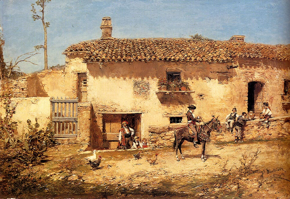 A Spanish Farm :: Jose Benlliure y Gil - Village life ôîòî