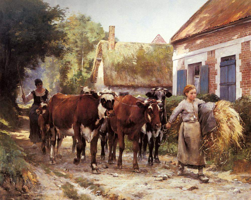 Returning from the Fields :: Julien Dupre - Village life ôîòî