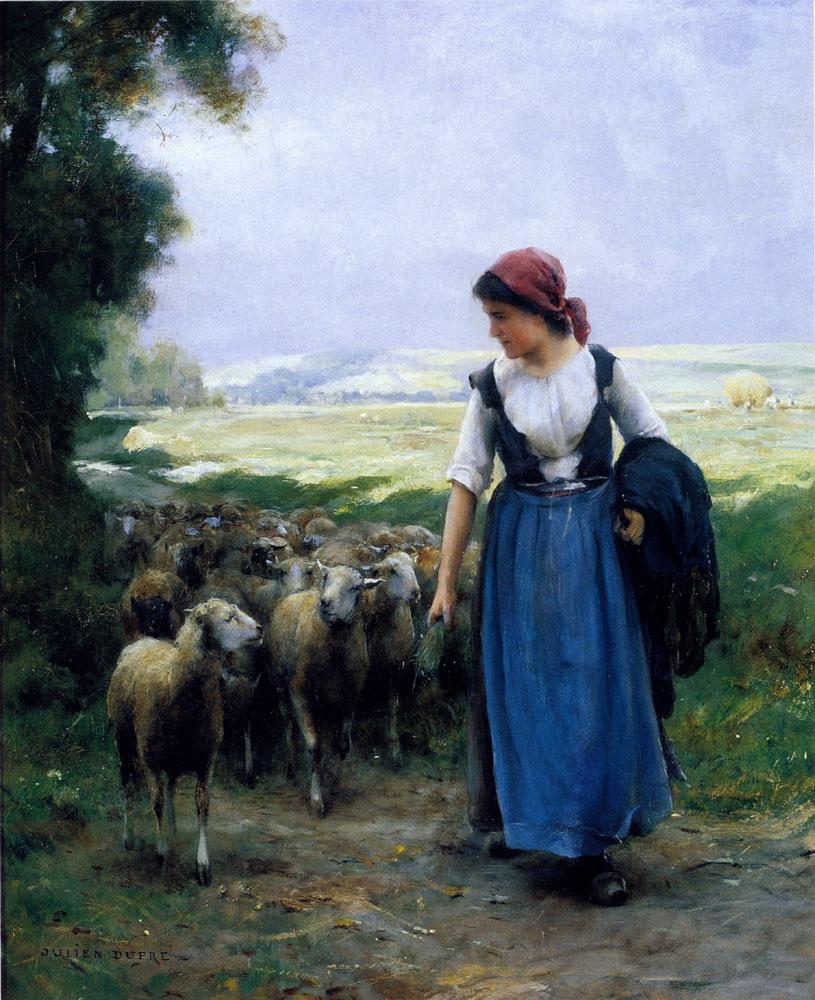 The Young Shepherdess :: Julien Dupre - Village life ôîòî