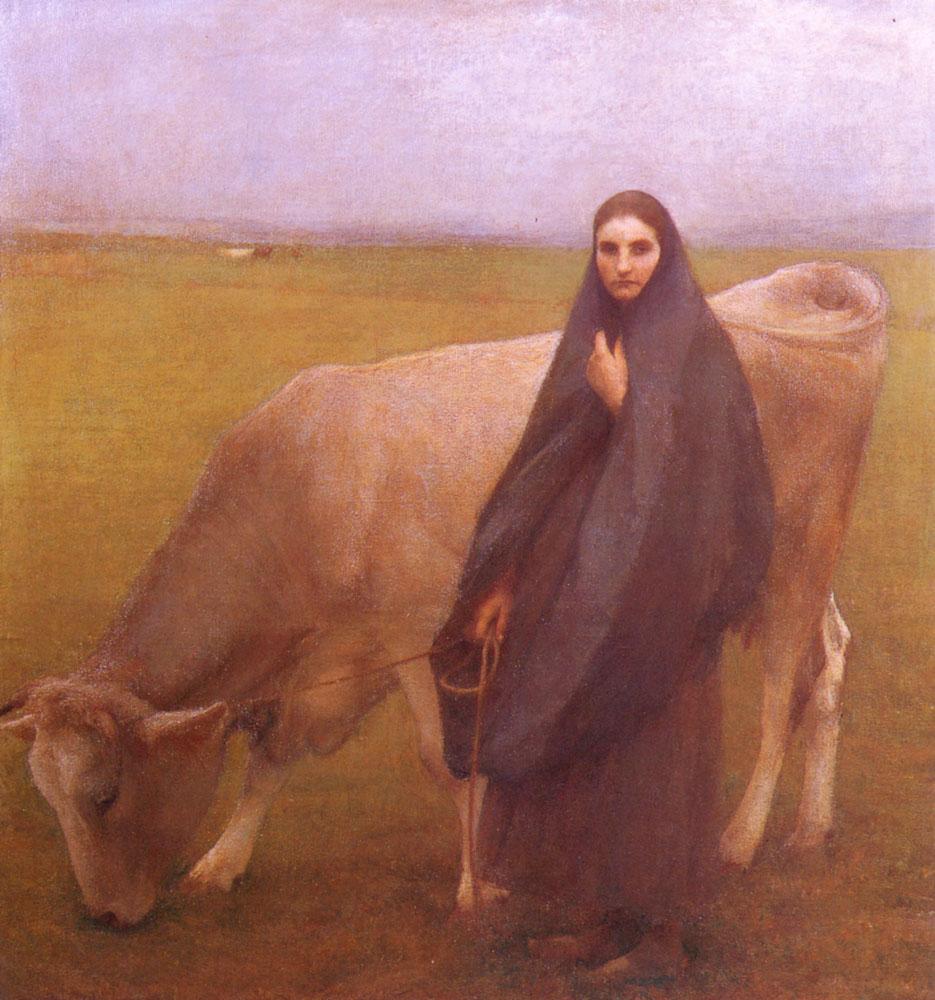 In The Meadow  :: Pascal-Adolphe-Jean Dagnan-Bouveret  - Village life ôîòî