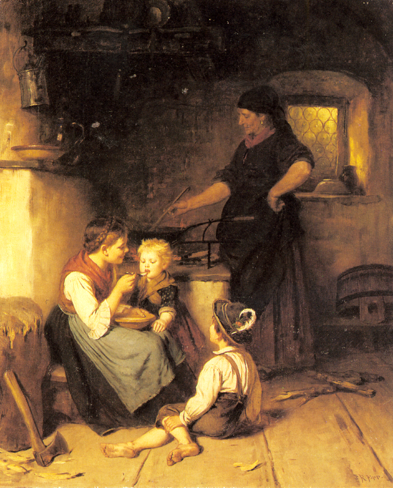 Feeding the Baby :: Rudolf Epp  - Village life ôîòî