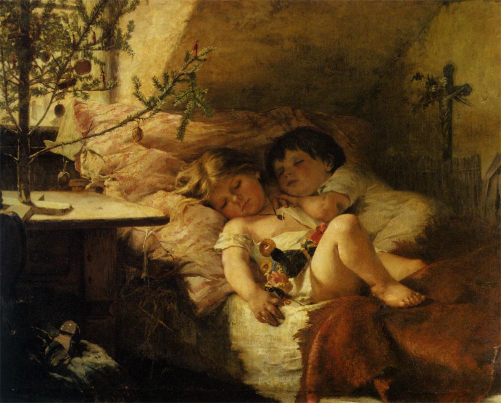 In the Christmas morning :: Agathe Rostel - Village life ôîòî