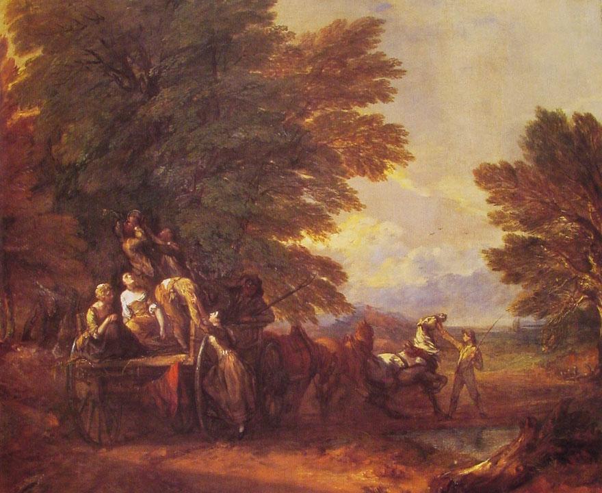 The Harvest Wagon :: Thomas Gainsborough - Village life ôîòî