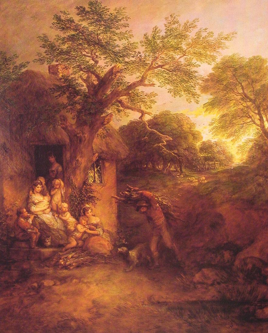 The Woodcutters' Return :: Thomas Gainsborough - Village life ôîòî