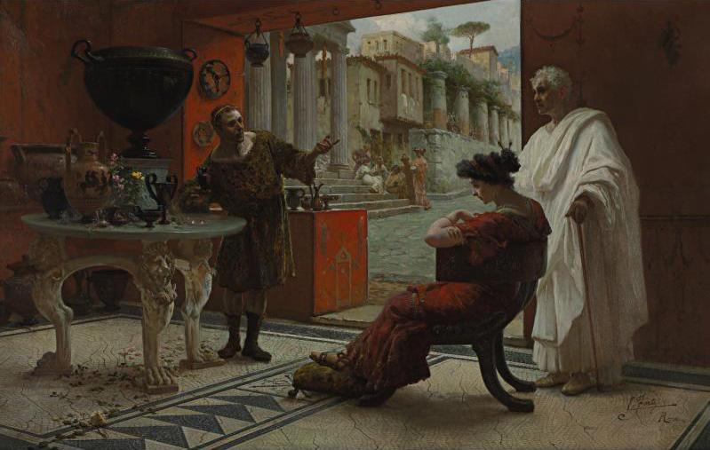 The Vendor of Antiquities :: Ettore Forti - Antique world scenes ôîòî