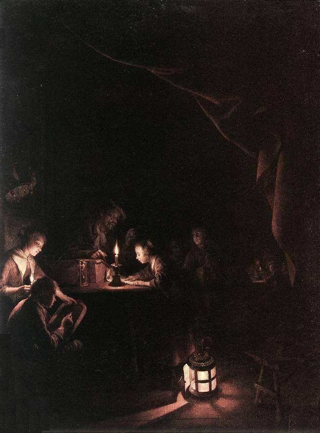 The Evening School :: Gerrit Dou  - Interiors in art and painting ôîòî
