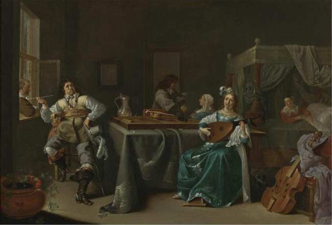 A Merry Company in an Interior :: Jacob Duck - Interiors in art and painting ôîòî