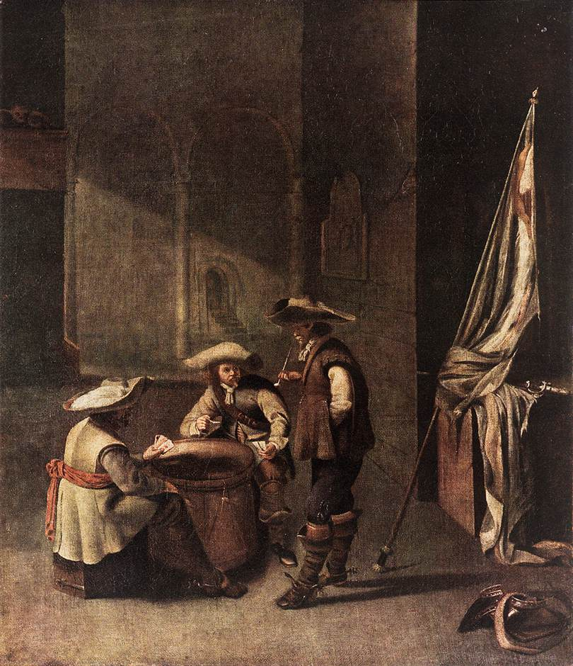 Guardroom with Soldiers Playing Cards :: Jacob Duck - Interiors in art and painting ôîòî