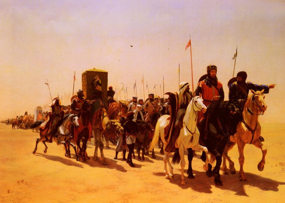 Richard, Coeur De Lion, On His Way To Jerusalem :: James William Glass - Middle ages scenes ôîòî