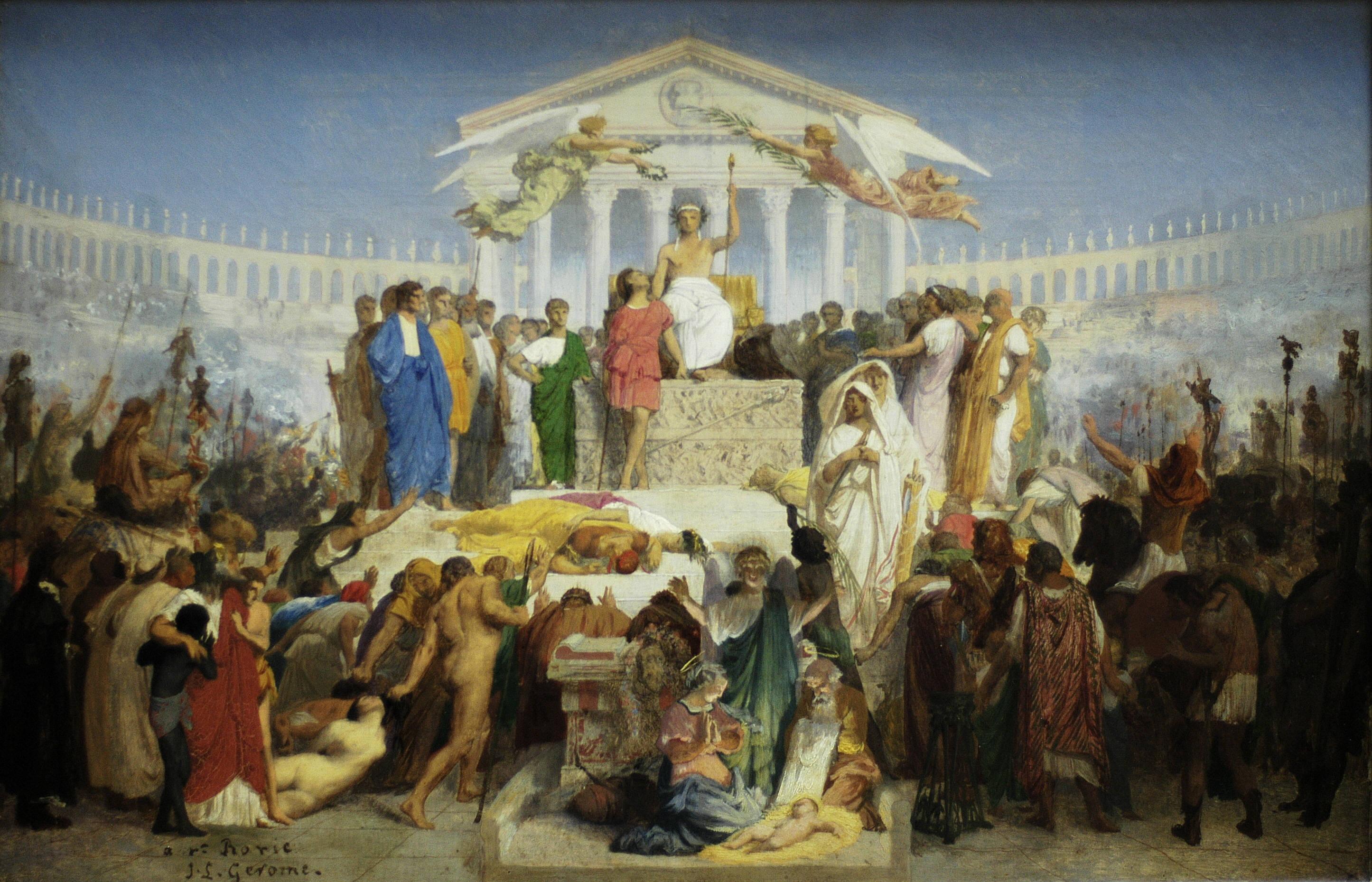 The Age of Augustus, the Birth of Christ :: Jean-Leon Gerome - Antique world scenes ôîòî
