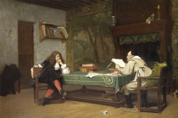 A Collaboration - Corneille and Moliиre :: Jean-Leon Gerome - Interiors in art and painting ôîòî