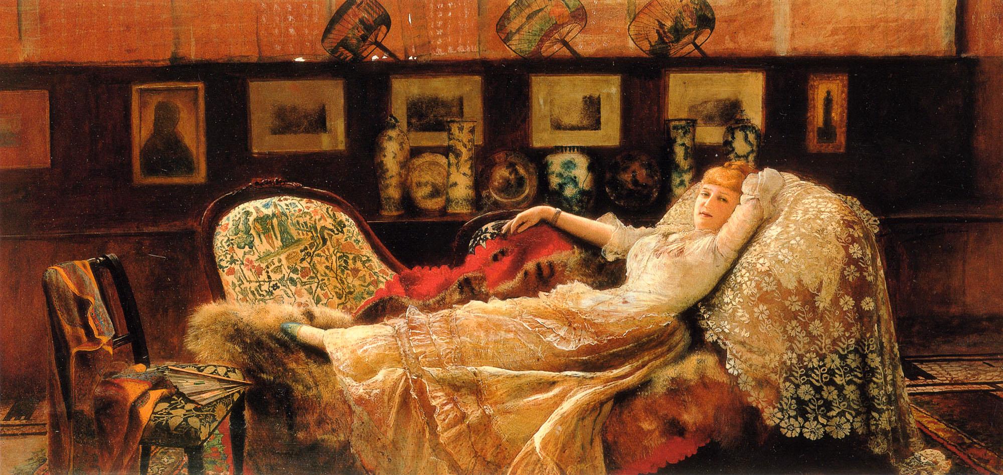 Day Dreams :: John Atkinson Grimshaw - Interiors in art and painting ôîòî