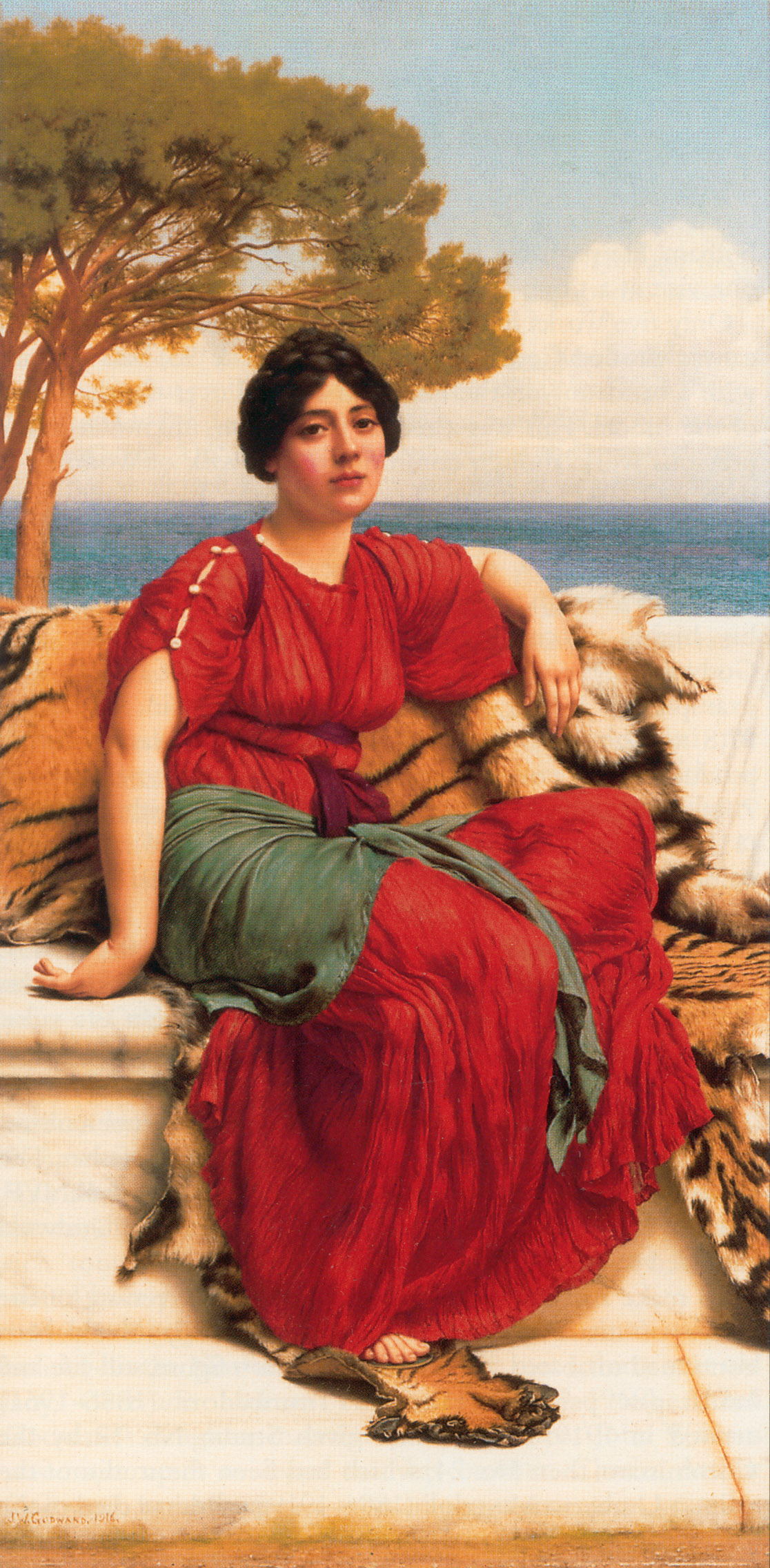 By the Blue Ionian Sea :: John William Godward - Antique world scenes ôîòî