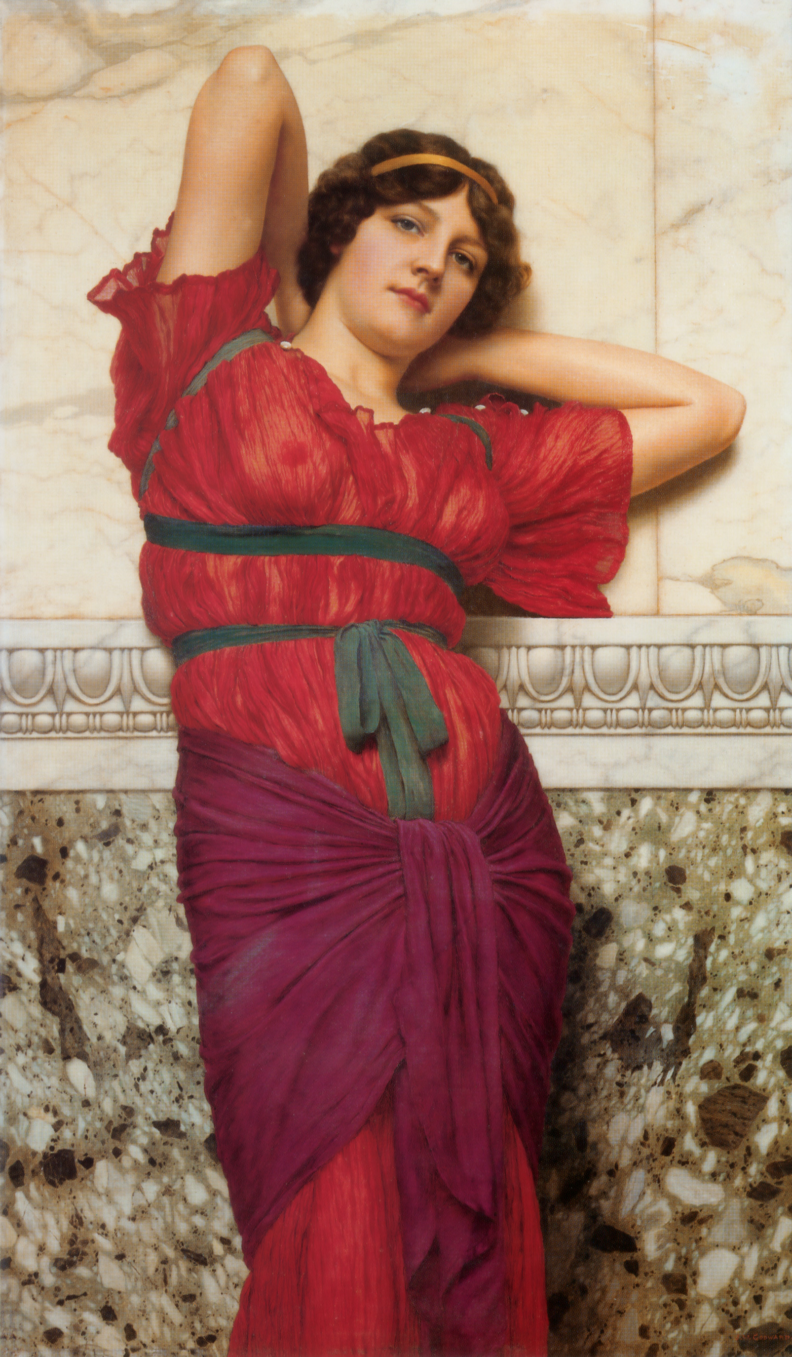 Contemplation :: John William Godward - Antique world scenes ôîòî