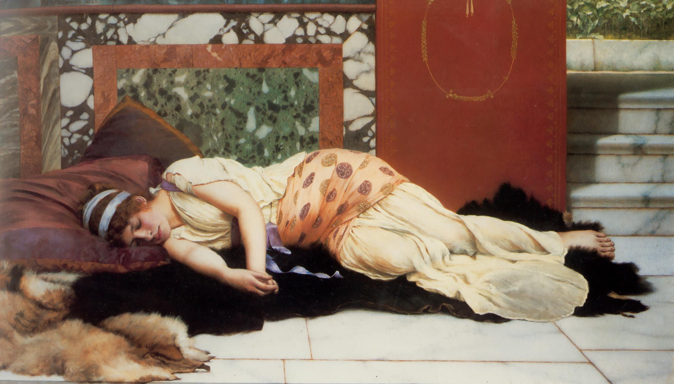 Endymion :: John William Godward - Antique world scenes ôîòî