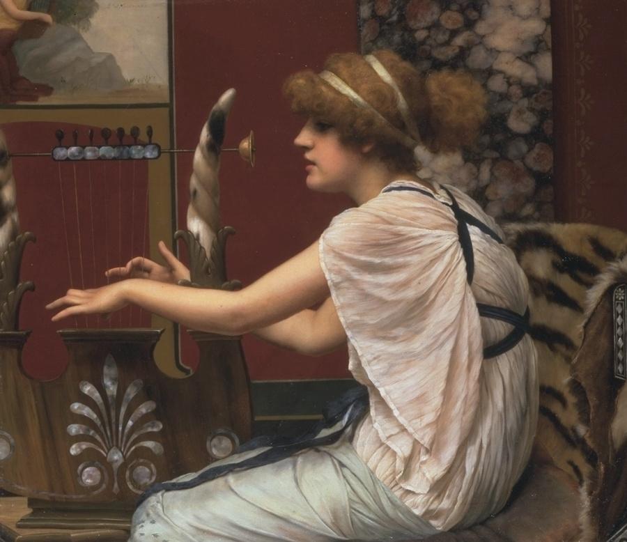 Erato at Her Lyre :: John William Godward - mythology and poetry ôîòî